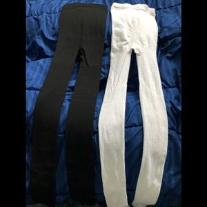 2 tights/thermal leggings (black and white)